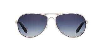Oakley Women's Tie Breaker OO4108-02 Polarized Aviator Sunglasses