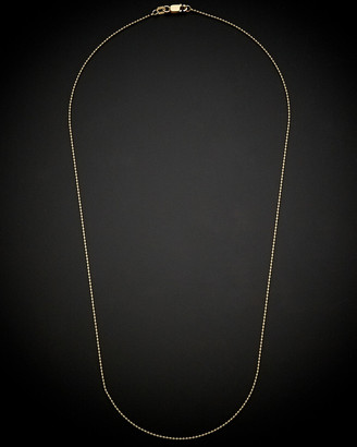 Italian Gold 18K Ball Chain Necklace