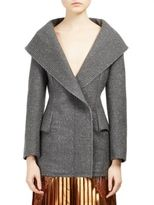Stella McCartney Long Wool Blend Tweed Jacket