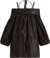 Isa Arfen Off-the-shoulder silk-taffeta dress