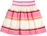 Miss Grant Striped Cotton Blend Organza Skirt
