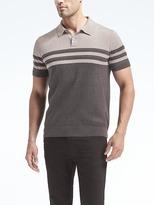 Banana Republic Block-stripe Supima® Cotton Sweater Polo