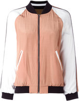 Twin-Set colour block bomber jacket - women - Cotton/Polyamide/Polyester/Viscose - 42