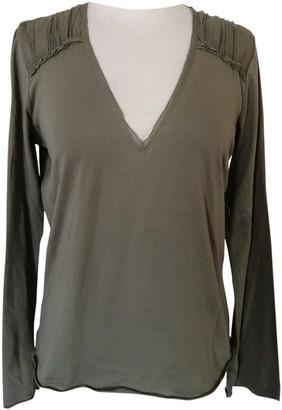 Velvet Green Cotton Top for Women