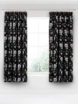 V&A Gardenia 66x72 Black Curtains