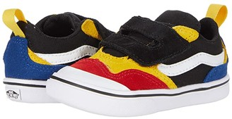 Vans Kids ComfyCush New Skool V (Infant/Toddler) ((Color-Block) Black/True White) Boy's Shoes