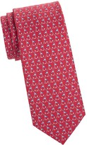 Salvatore Ferragamo Tren Print Silk Tie