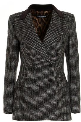 Dolce & Gabbana Houndstooth Tweed Blazer
