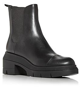 Stuart Weitzman Women's Norah Block Heel Platform Chelsea Boots