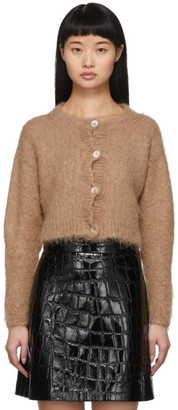 Miu Miu Brown Mohair Cropped Cardigan