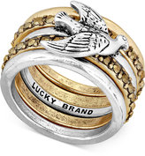 Lucky Brand Two-Tone Bird Stack Ring