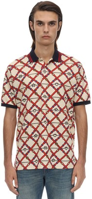 Gucci Vintage Stretch Cotton Piquet Polo Shirt