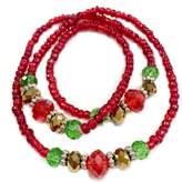 Linpeng Fiona BR-2176B_Multi Style Beads Wrap Around Bracelet/Necklace - 2 Functions in 1 - in Bag