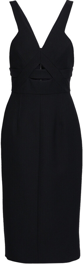 Narciso Rodriguez Cutout Wool-twill Dress