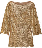 Michael Kors Metallic Guipure Lace Blouse - Gold