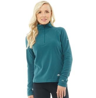 Trespass Womens Shiner 1/2 Zip Micro Fleece Teal