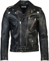 Saint Laurent Stars Leather Biker Jacket