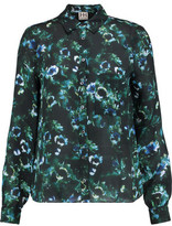 Haute Hippie To Jj With Love Printed Silk-Chiffon Blouse