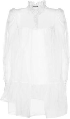 AVAVAV Ruffled Silk Organza Mini Dress