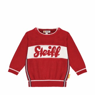 Steiff Baby_Boy's mit suer Teddybarapplikation Sweater
