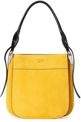 Prada Sunny Yellow Margit Suede Shoulder Bag