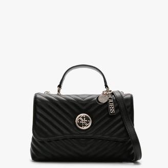 GUESS Blakely Flap Black Quilted Top Handel Shoulder Bag