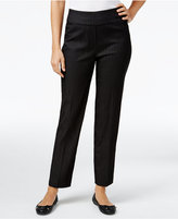 Alfred Dunner Pinstriped Pull-On Pants