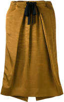Victoria Beckham folded straight skirt