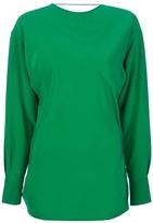 Vionnet open back blouse