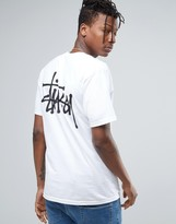 Stussy T-shirt With Logo Back Print