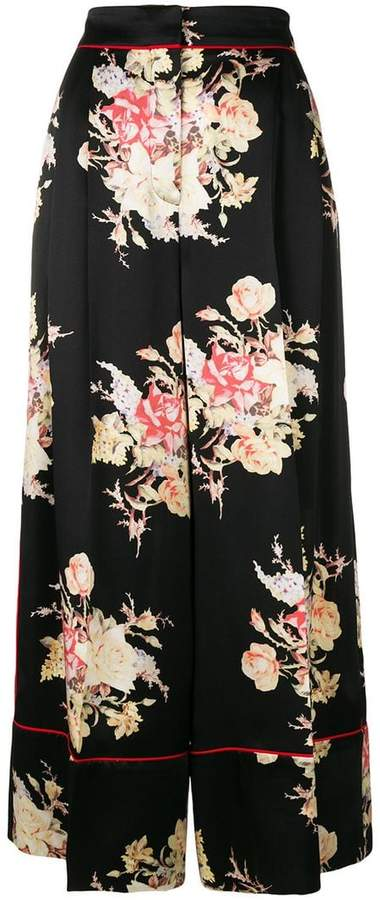 Alexander McQueen floral print pajama trousers