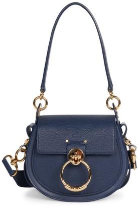 Chloé Small Tess Leather Saddle Bag