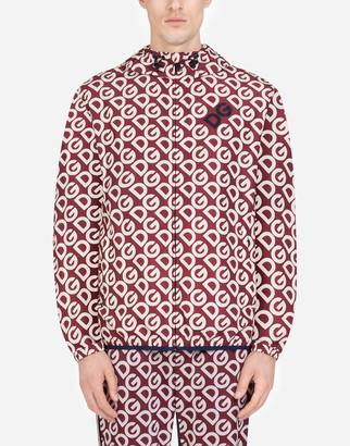 Dolce & Gabbana Nylon Jacket With Logo Print