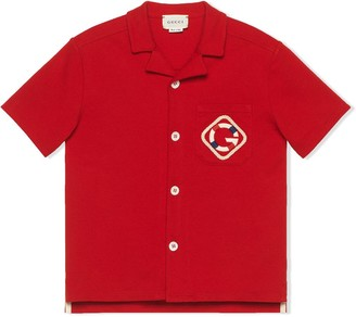 Gucci Kids G logo patch polo shirt