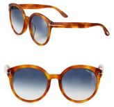 Tom Ford Philippa 55MM Oversized Round Sunglasses