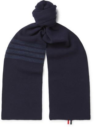 Thom Browne Striped Merino Wool Scarf