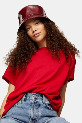 Topshop Womens Petite Weekend T-Shirt In Red - Red