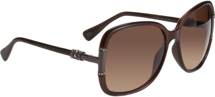 Lanvin Oversized Flared Square Sunglasses