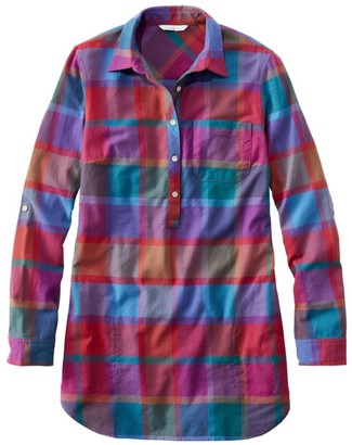 L.L. Bean Signature Lightweight Flannel Tunic Shirt