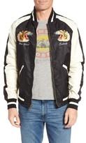 Schott NYC Men's Uss Lexington Embroidered Bomber Jacket