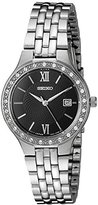Seiko Women's Japanese Quartz Stainless Steel Watch, Color:Silver-Toned (Model: SUR761)
