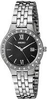 Seiko Women's Quartz Stainless Steel Automatic Watch, Color:Silver-Toned (Model: SUR761)