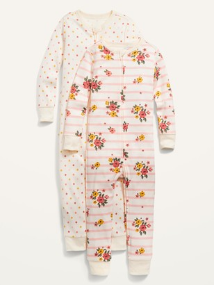 Old Navy Unisex Printed One-Piece Pajamas 2-Pack for Toddler & Baby