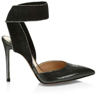 Gianvito Rossi Elastic-Strap Coated Pumps