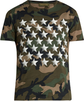 Valentino Butterfly-back camouflage-print cotton T-shirt