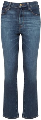 J Brand Teagan High Waist Straight Jeans