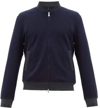 Brunello Cucinelli Cotton-blend Jersey Bomber Jacket - Mens - Navy