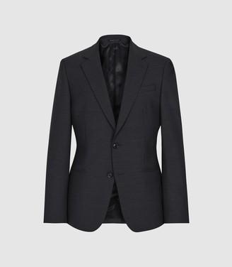 Reiss Purdue - Wool Blend Slim Fit Blazer in Charcoal