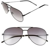 Saint Laurent 'Classic' Aviator 59mm Sunglasses