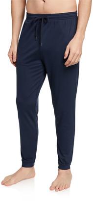 Derek Rose Men's Basel 1 Solid Jersey Cuffed Lounge Pants